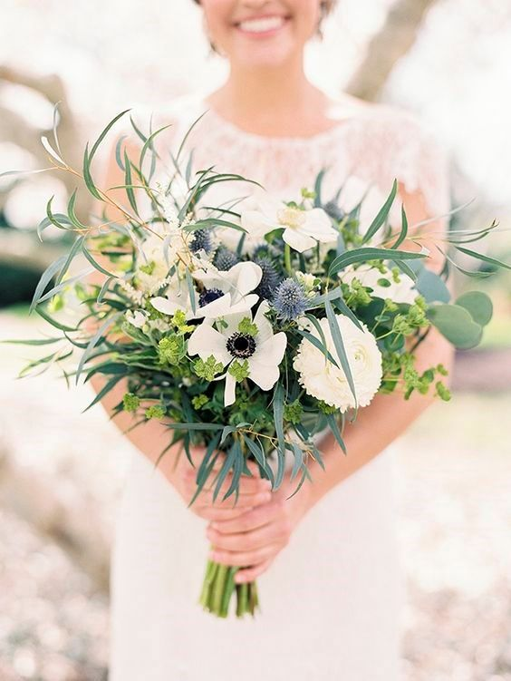 Virgo  Practical and modest  Colour - navy and chocolate  Flowers & plants - chrysanthemum, eucalyptus, violet, ivy and thistle  Photo |  Krista A. Jones Fine Art Photography