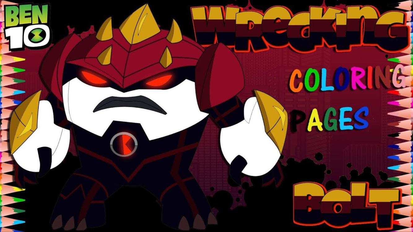 Ben 10 Reboot Wrecking Bolt Coloring Pages Sanat