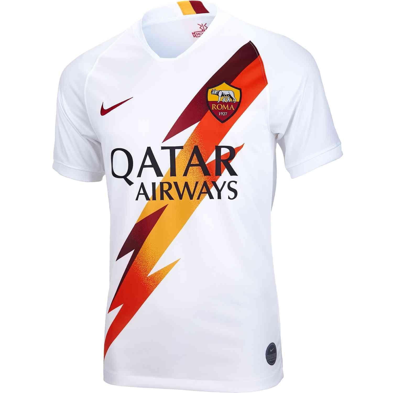 2019/20 Nike AS Roma Away Jersey - SoccerPro | Jersey, As roma, Soccer  jersey