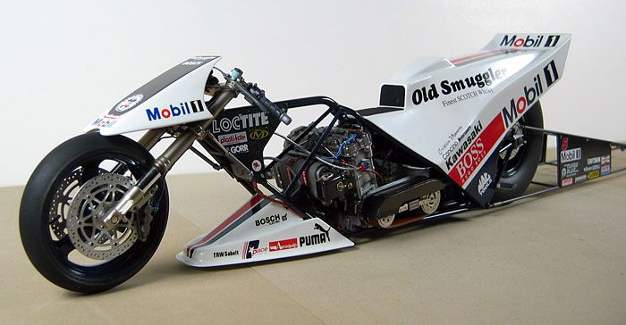 Top Fuel Drag Racing Motorcycle By Jimmy Cancino Scratchbuilt