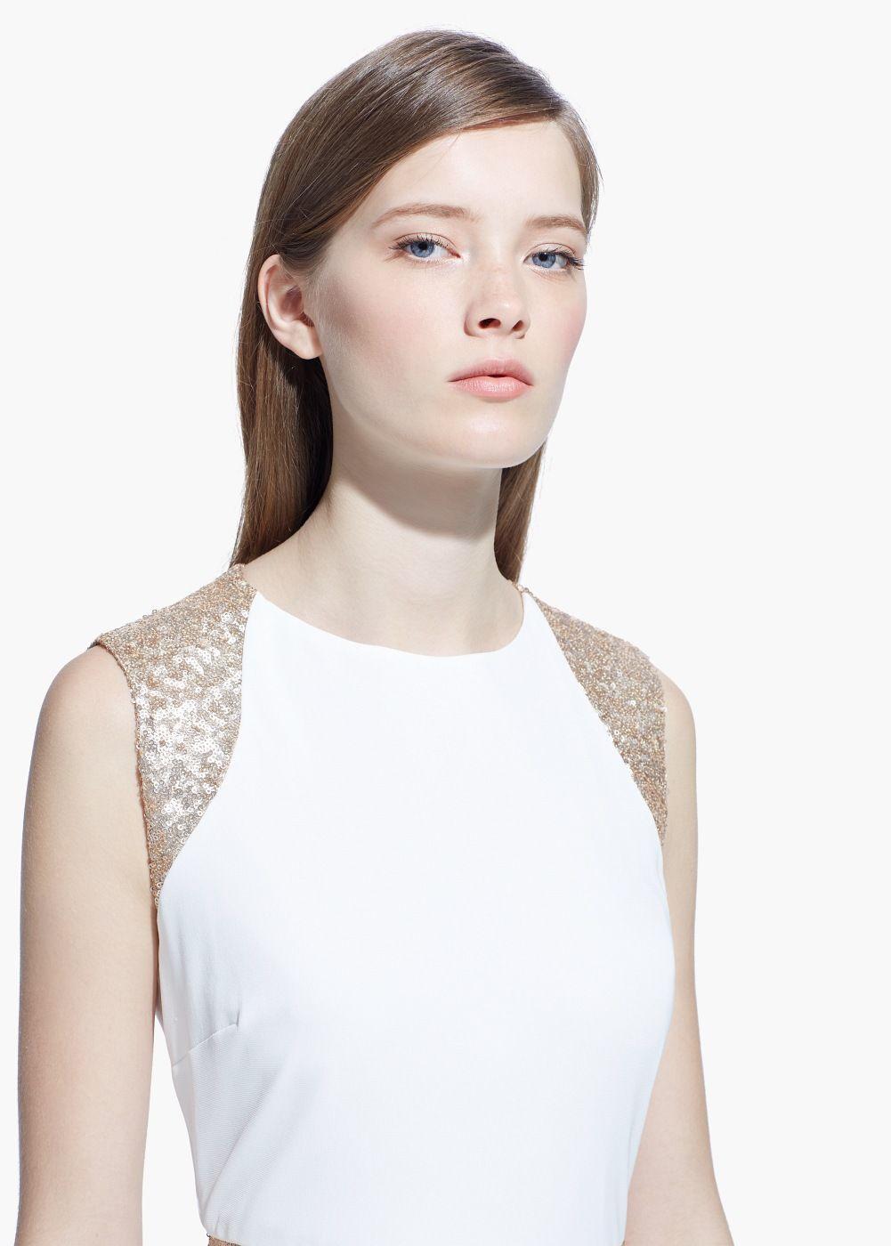 Vestido aplicações lantejoulas - Mulher   Pinterest   Fashion ... d99518f5d151