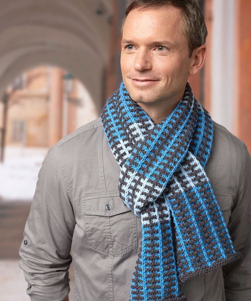 Slipped Stripes Scarf Free Knit Pattern LM5694 | knitting projects ...