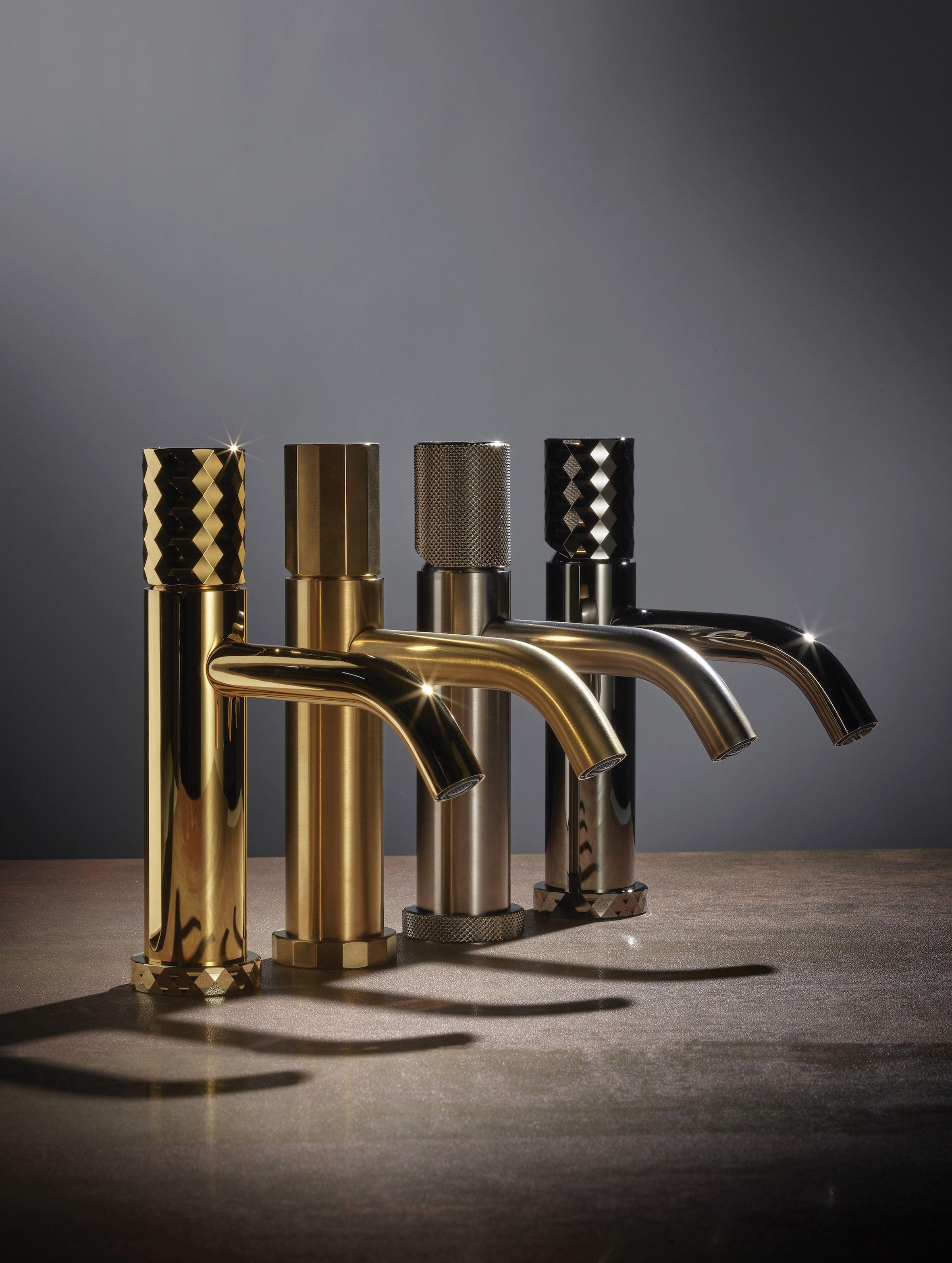 Beautiful Brassware From Italian Designers Fantini Bronze Gold Detailedbrassware Taps Beautifulbat Bathroom Design Faucet Design Wall Mounted Bath Taps