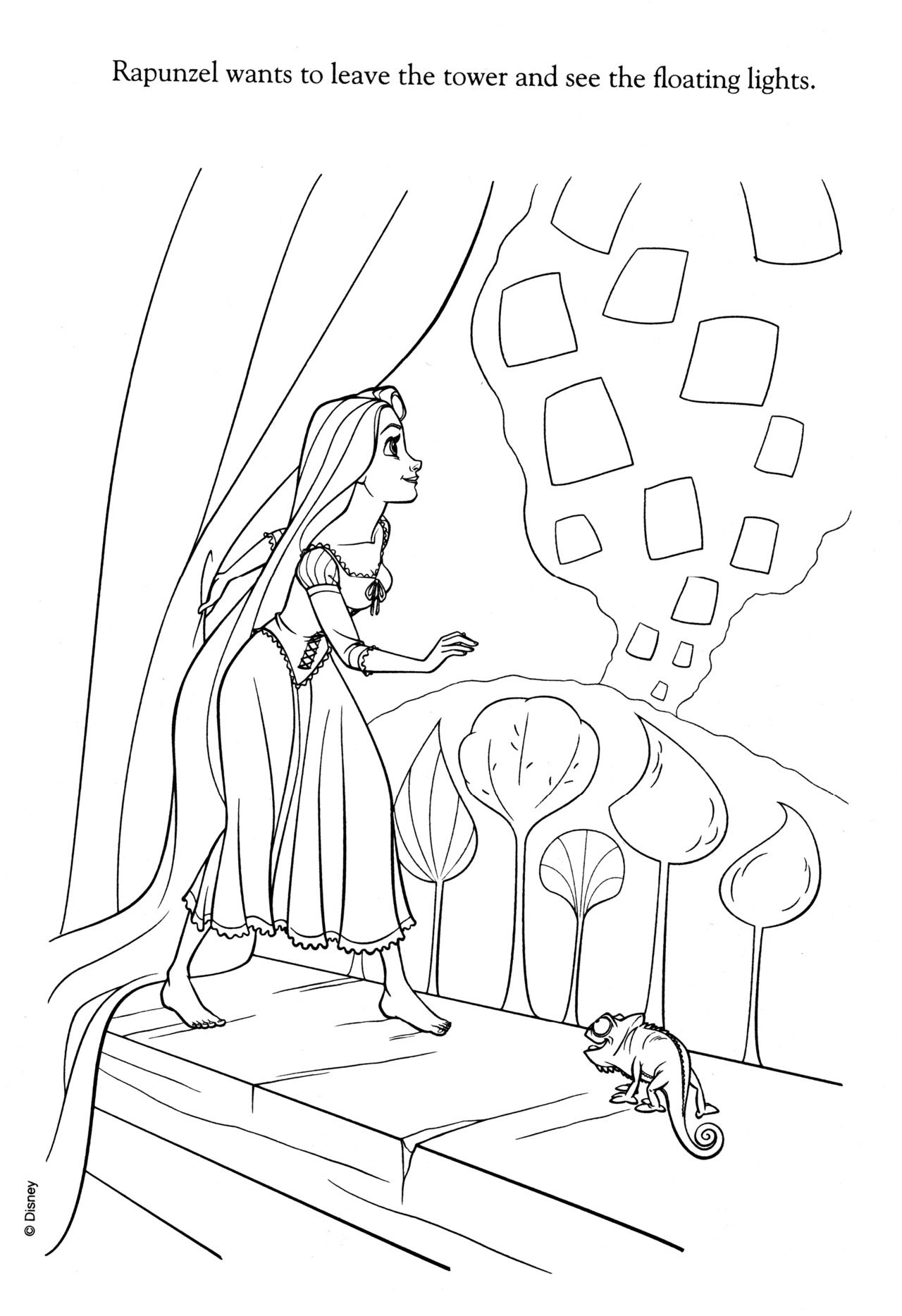 Disney Coloring Pages With Images Tangled Coloring Pages