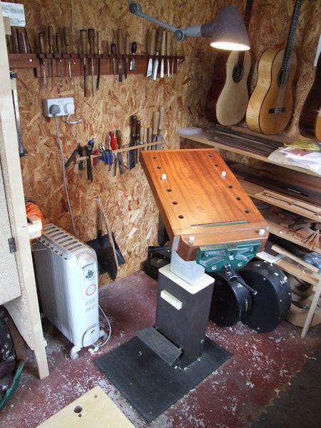 Adjustable Bench Working Area Guitar Building Luthier Workshop