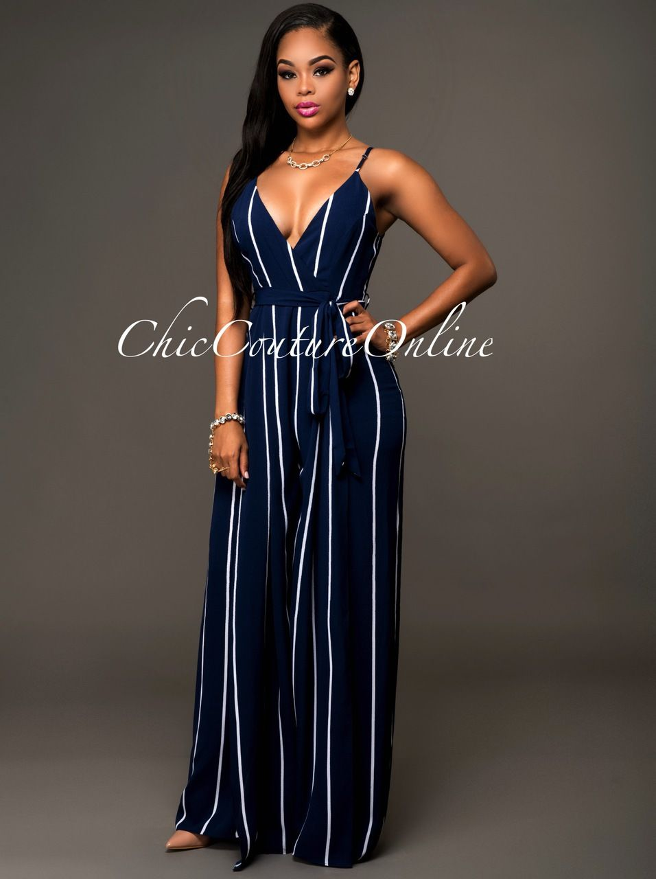 937fd0125a735 Blue And White Jumpsuits