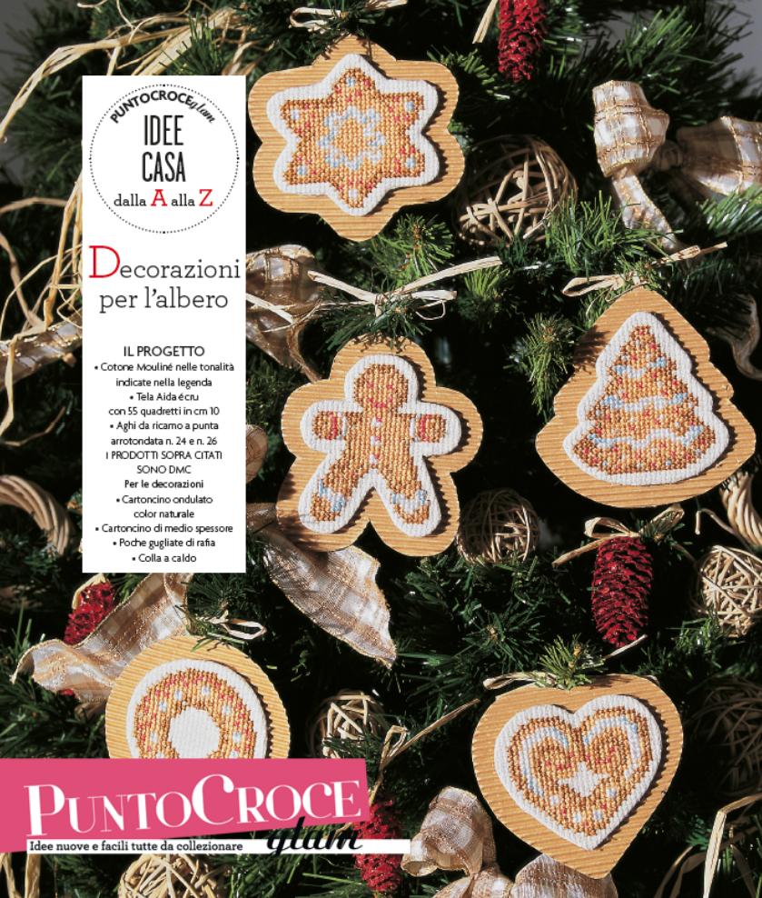Tante decorazioni per l'albero di Natale a punto croce... createle insieme a noi! Idee casa del n.12, Collezione Punto Croce Glam, Mondadori editore