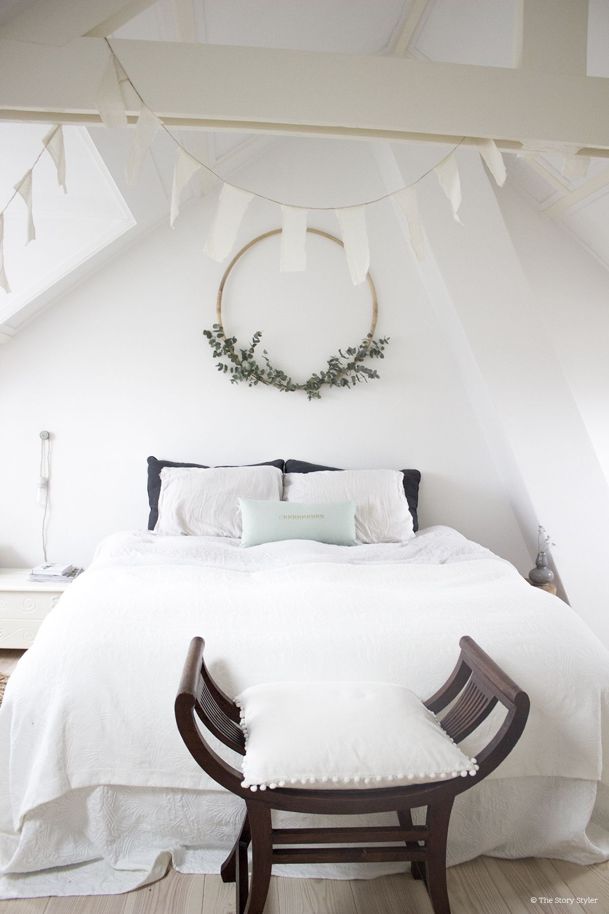 Ikea hack: diy eucalyptus krans | diy. | Pinterest | Bedroom, Room ...