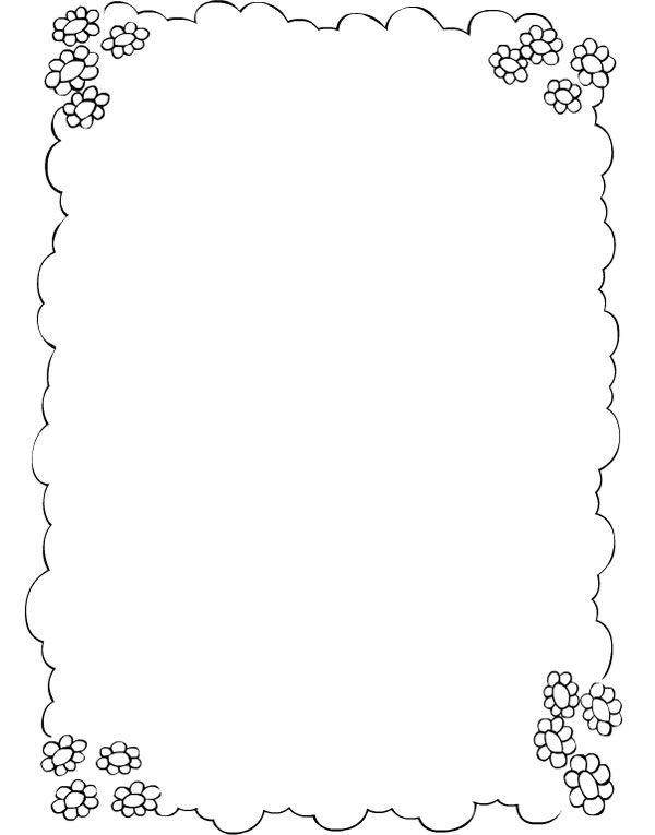 Borde flores | Dibujos para pintar | PRIMAVERA Y FLORES | Pinterest ...
