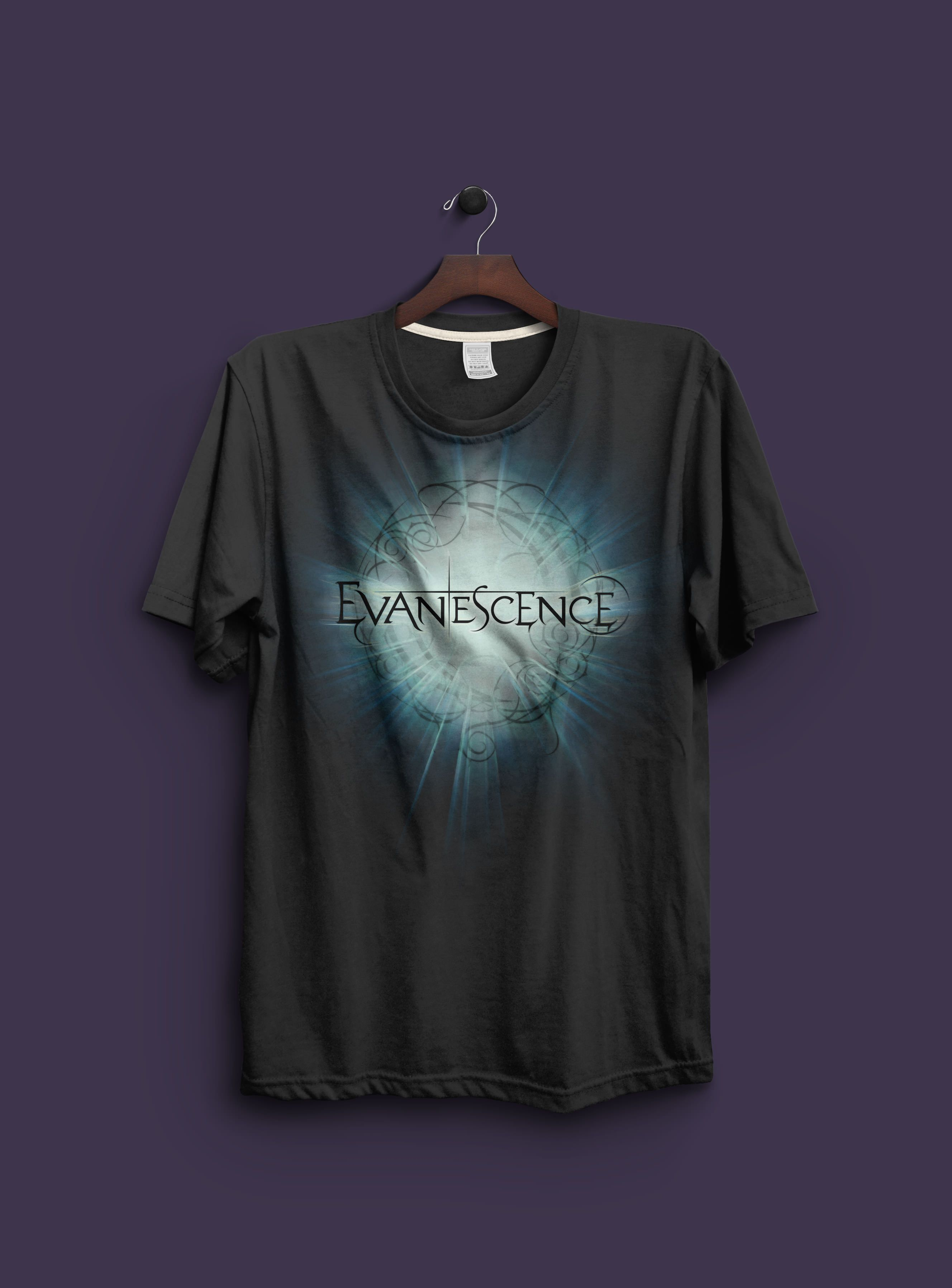 003f74f2 Hard rock artists Evanescence t-shirts, merch, and apparel graphics for the  bands 2008 national tour and online store. Designed by Jeff Rigsby.