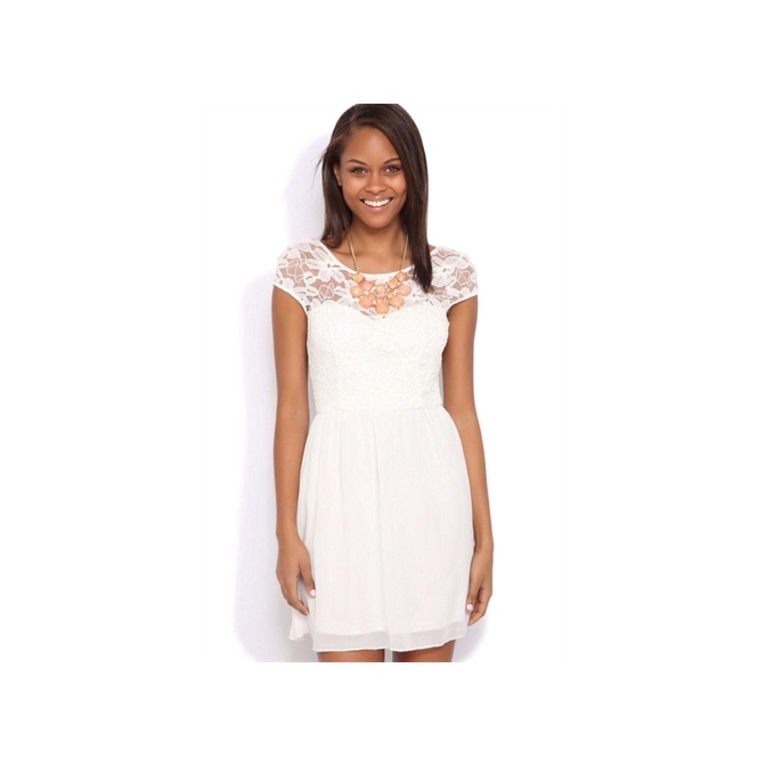 Graduation Dress Lace A Line Dress Lace White Dress A Line Dress [ 1536 x 1536 Pixel ]
