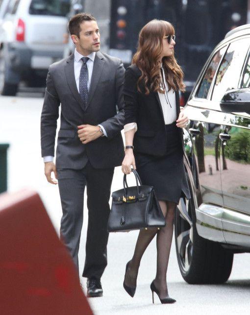 Fashion · Dakota Johnson and Brant Daugherty on the set of Fifty Shades  Darker · Jamie DornanAnastasia GreyAnastasia Steele