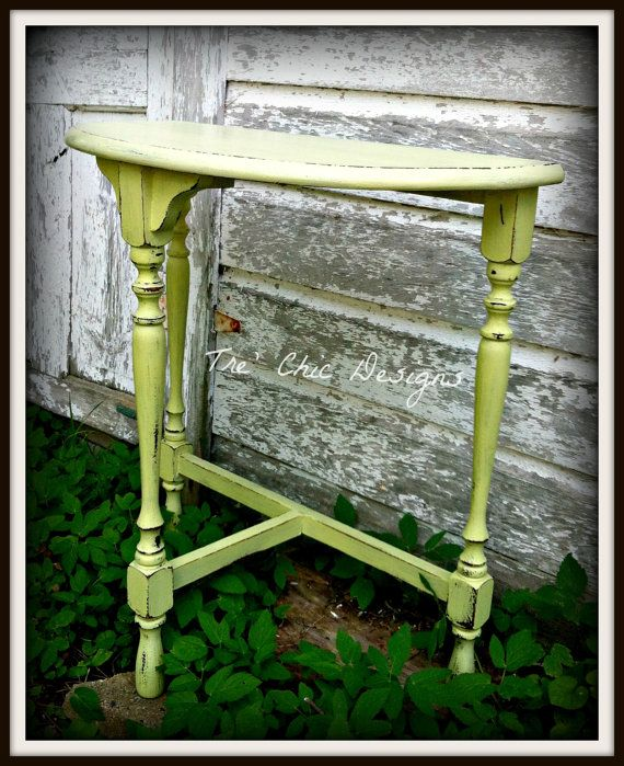 Shabby Chic Vintage Half Moon Side Table By TreChicDesigns On Etsy,