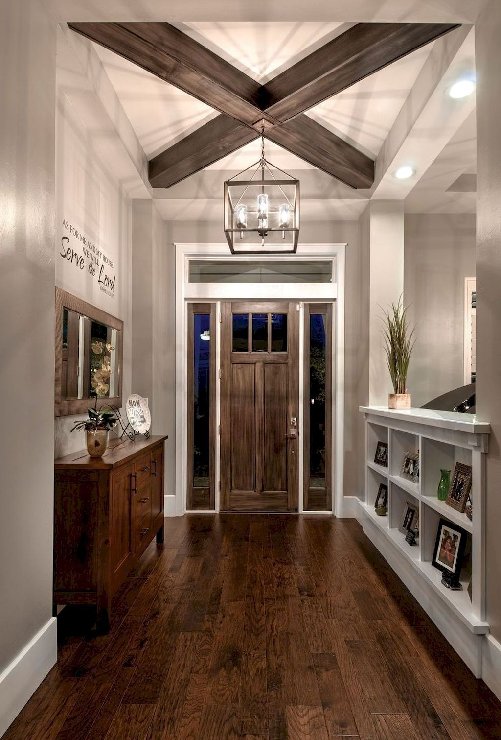 42 Modern Farmhouse Entryway Decorating Ideas