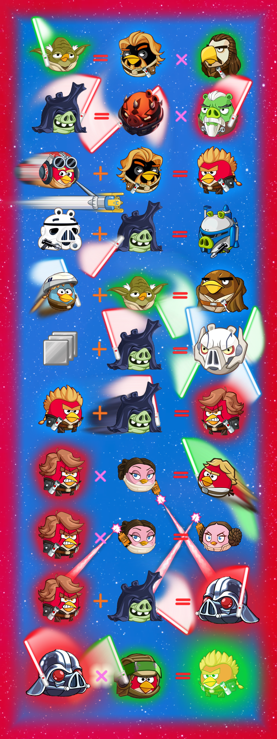 Angry Birds Star Wars I And Ii All Timeline And Their Stories Star Wars Films Series Episode 1 To 6 Angry Birds Star Wars Rainbow Fish Star Wars Film