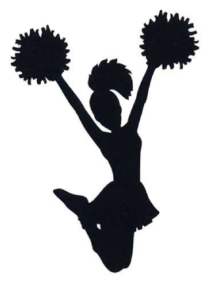 free cheer sillohette clip art black and white cheerleader clip rh pinterest com cheerleader clipart images cheerleading clipart free