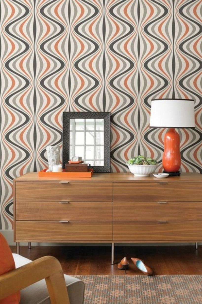 73 Cute and Stylish Retro Wallpaper Decorating
