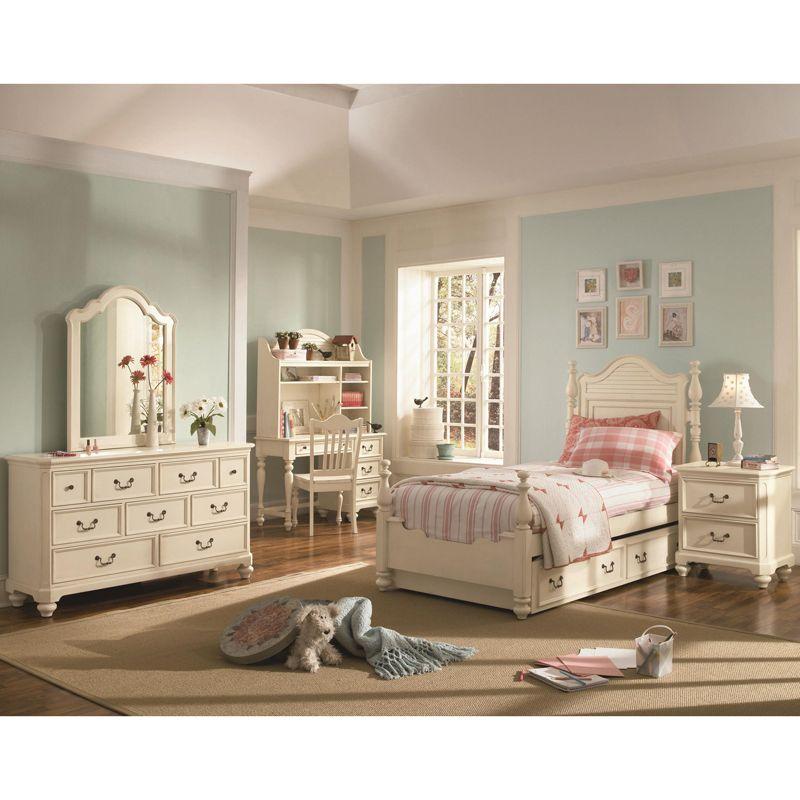Twin 5 Piece Bedroom Package Antique White Little Girl Bedroom Set Childrens Bedroom Furniture Furniture White Twin Bedroom Set