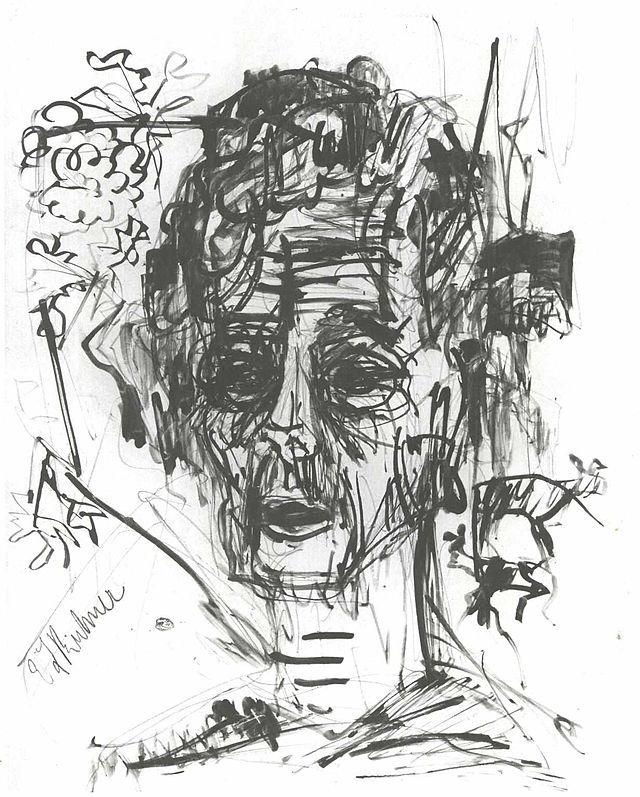 Kirchner - Selbstbildnis unter Morphium - Ernst Ludwig Kirchner - Wikimedia Commons