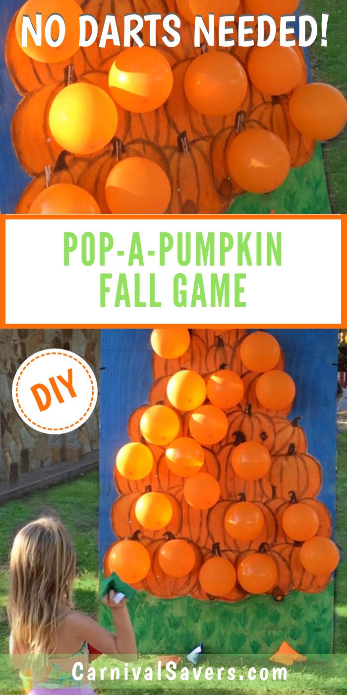 Fall Festival Game - Pop a Pumpkin - No Darts Needed!
