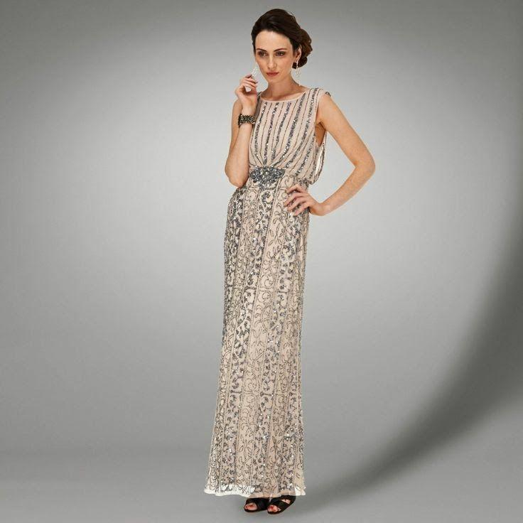 Gatsby style affordable beaded wedding dress - Phase Eight ...