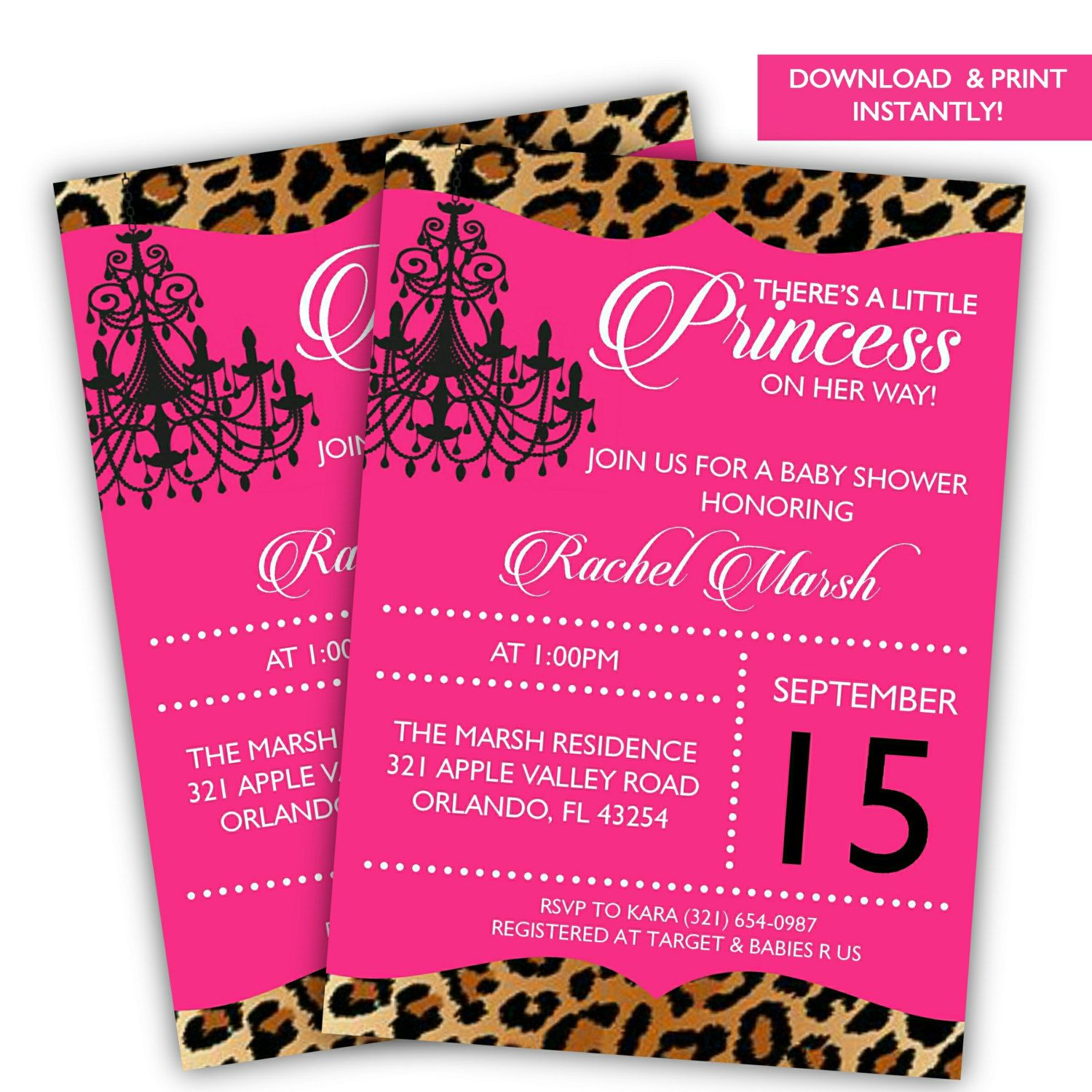Download Leopard Baby Shower Invitations | FREE Baby Shower ...