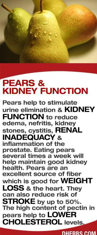 pears and kidney function