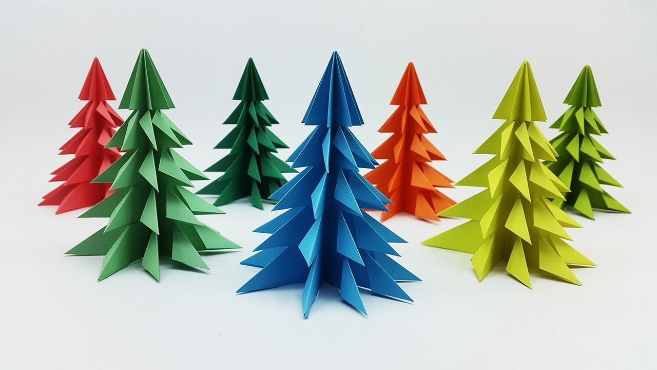 3d Paper Christmas Tree Making Tutorial How To Make Xmas Tree Diy Ch Diy Paper Christmas Tree Christmas Crafts Diy Paper Christmas Tree