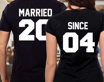 42b01ba9a0 Just married shirts / together since shirts /anniversary shirts /couple  shirts /his and hers shirts/ married since shirts/ mr and mrs shirts