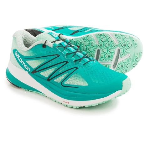 Women Running Shoes Salomon Women Teal Blue/Ingloo Blue/Black Shoes Online