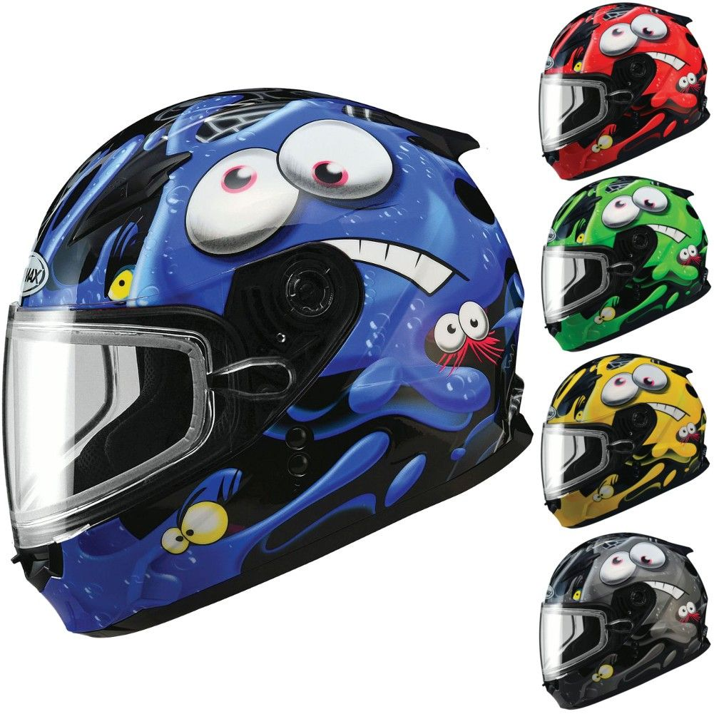 Dp Gmax Gm49y Slimed Youth Snowmobile Helmets Snowmobile Helmets Helmet Snowmobile