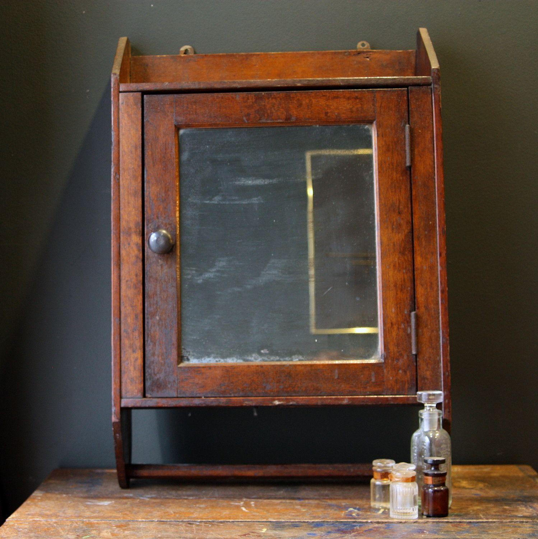 antique oak medicine cabinet - Antique Oak Medicine Cabinet With Towel Bar Crafts Pinterest