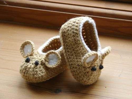 dfd75a424 Zapatos  Escarpines Para Bebes. Tejido A Crochet. Animales - BsF ...