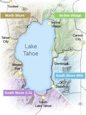 Lake Tahoe Area Maps South Lake Tahoe Lake Tahoe Map Lake Tahoe