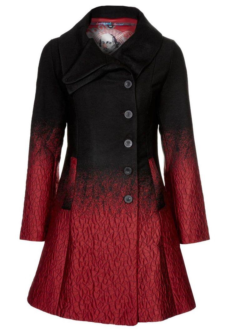 Desigual SUEÑOS LÍQUIDOS - Wool coat, red black ombre / gradient ...