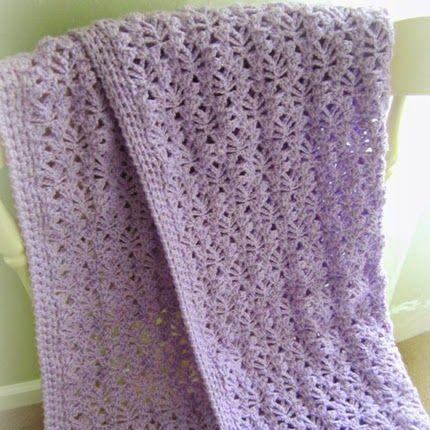 Crochet For Children Lacy Baby Blanket Free Pattern Crochet