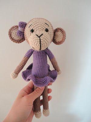 Den lilla elefant: Hæklet abe