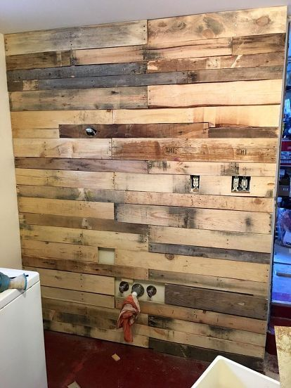Laundry Room Pallet Wall Diy Wood Wall Pallet Wall Decor