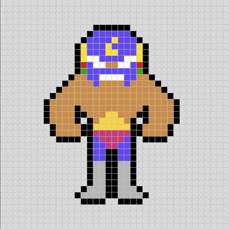 El Primo Brawl Stars Videojuego Pixel Art Patterns Con