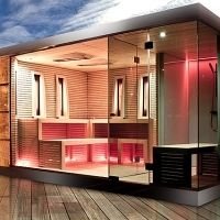 Sauna Haus Mit Dusche Cube Luxury Garden Zurich Gartensauna Saunahaus Garten Sauna