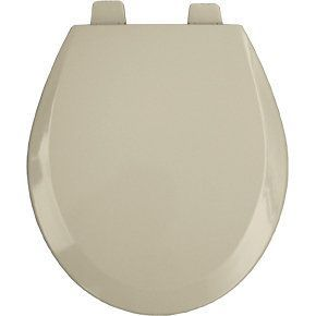 Bemis 550PRO Round Open Front Molded Wood Toilet Seat with Top-Tite® Hinge Bone Accessory Toilet Seat Round