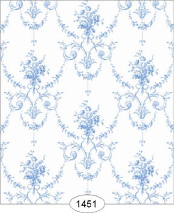 "Dollhouse Wallpaper ""Princess Toile Blue"""