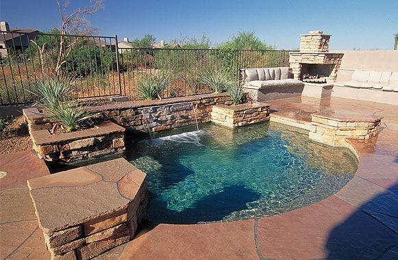 Phoenix Pool Arizona Spas And Spools California Pools And Spas Swimming Pool Landscaping California Pools Backyard Pool