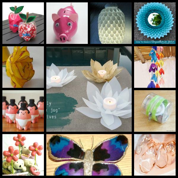 Reciclaje 40 proyectos con botellas cucharas y vasos de - Reciclaje manualidades decoracion ...