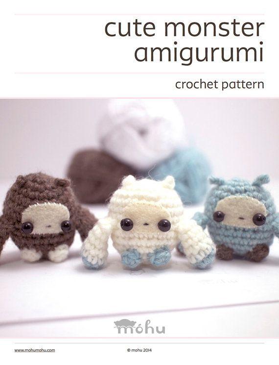 crochet pattern amigurumi monsters por mohustore en Etsy | Amigurumi ...