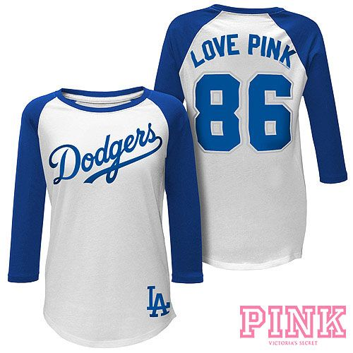 f0f7e78a9 Los Angeles Dodgers Victoria s Secret PINK® Baseball Tee - MLB.com Shop