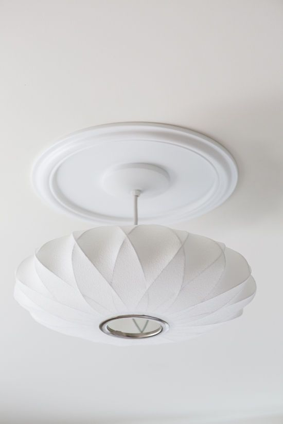George Nelson Saucer Lamp With Home Depot Ceiling Medallion