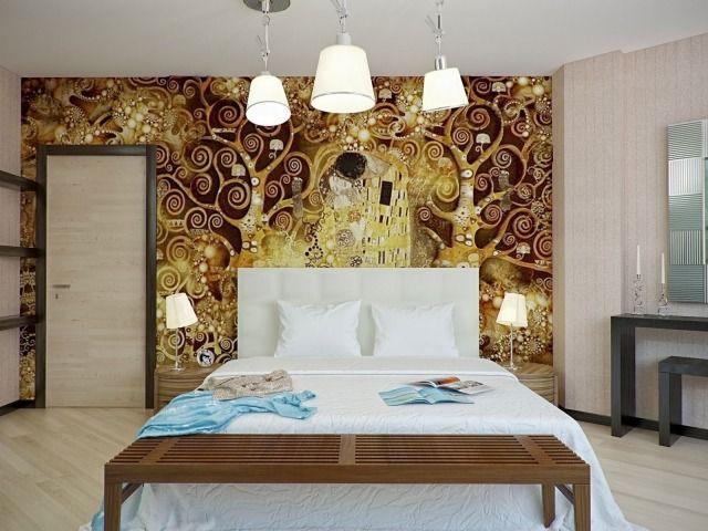 107 idées de déco murale et aménagement chambre à coucher | Dans la ...