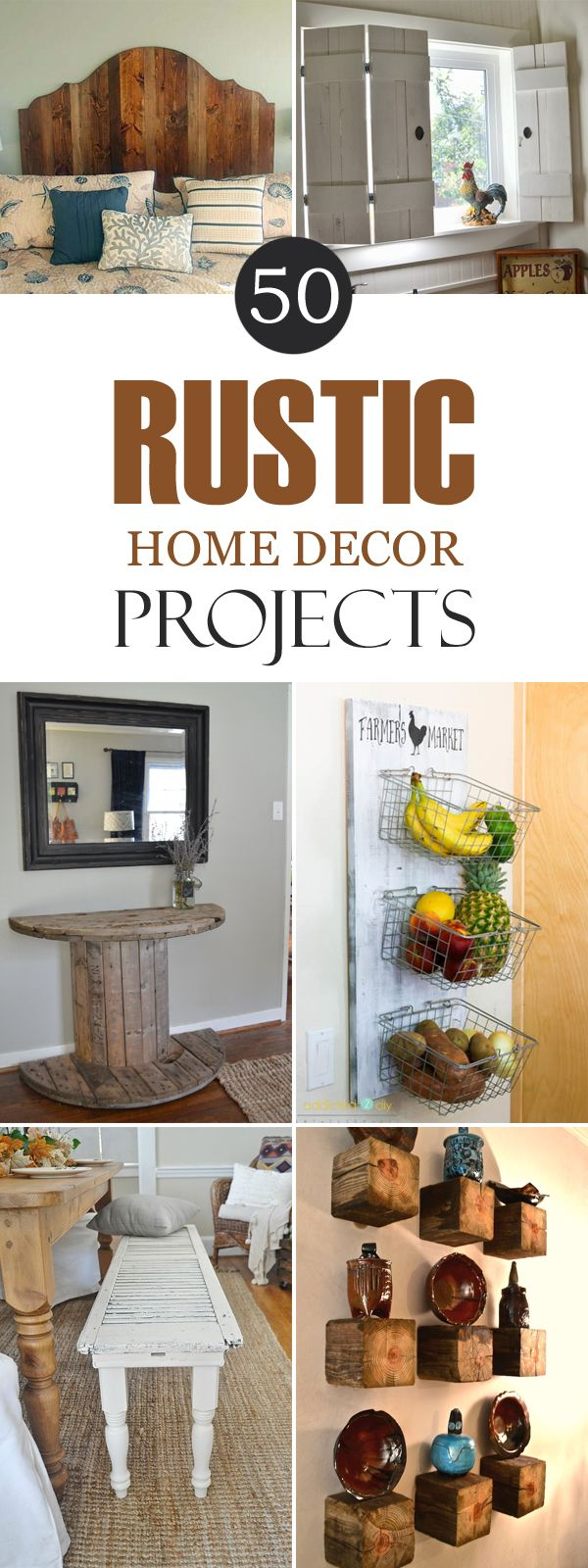 Cheap And Easy DIY Rustic Home Decor Ideas - Diy apartment decor ideas