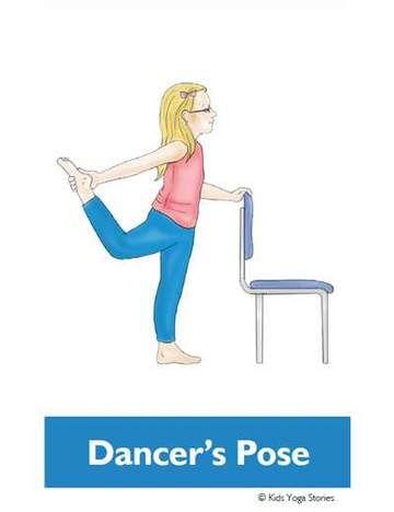 chair yoga poses for kids cards  chair yoga yoga poses